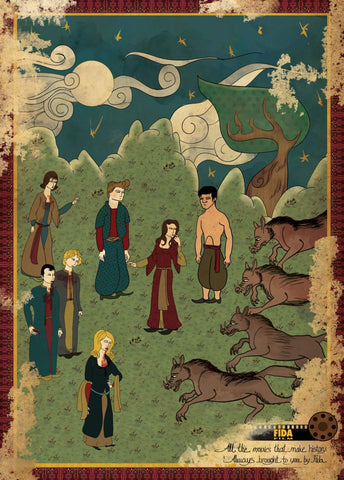 Art Movie Poster - Twilight - Vintage Ottoman Miniature Style- Tallenge Hollywood Poster Collection
