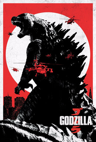 Art Poster - Godzilla - Empire - Hollywood Collection by Joel Jerry
