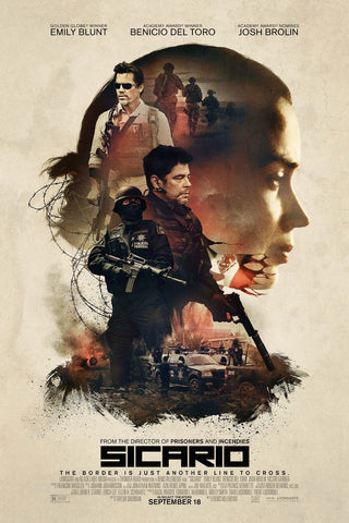 Tallenge Hollywood Collection - Movie Poster -Sicario
