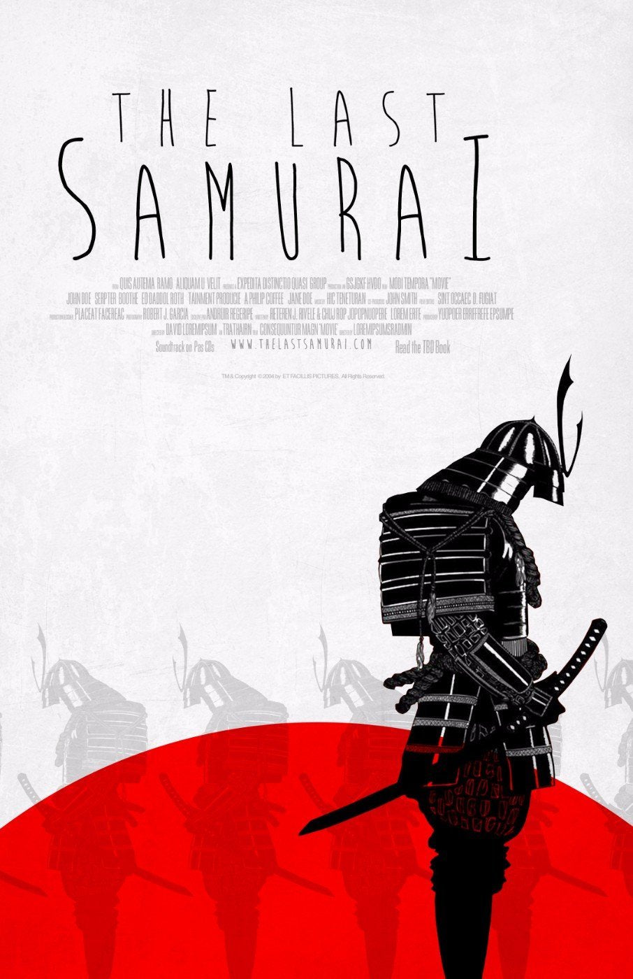 Tallenge hollywood collection movie poster the last samurai large art prints