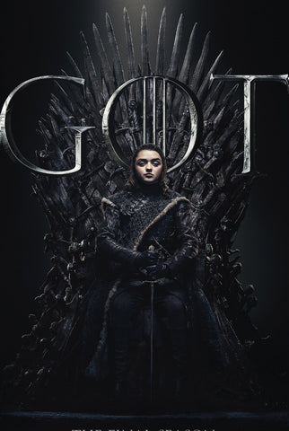 Arya Stark - Iron Throne - Art From Game Of Thrones