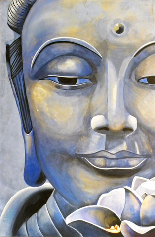 Asian Art - Lotus Buddha by James Britto