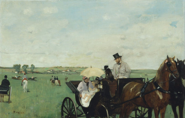 At the Races In The Countryside - Art Prints