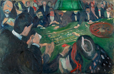 At the Roulette Table In Monte Carlo (Ved ruletten i Monte Carlo)- Edvard Munk