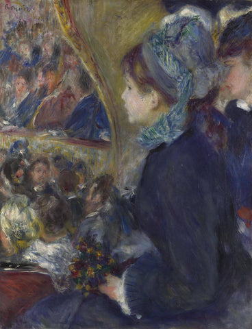 At the Theatre (La Premiere Sortie) - Pierre Auguste Renoir