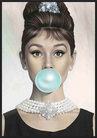 Audrey Hepburn Bubble gum by Joel Jerry