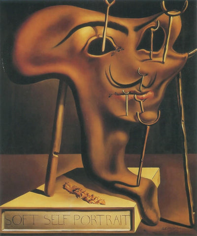 Autorretrato blando con loncha de bacon asado - Dalí, 1941 - Soft Self-Portrait with Fried Bacon