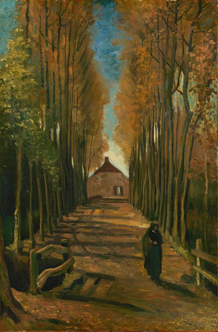 Avenue of Poplars in Autumn - Posters
