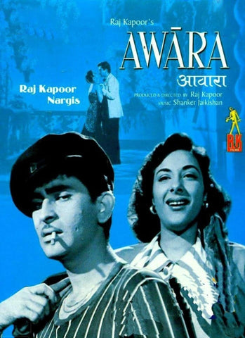 Awara - Raj Kapoor Nargis - Hindi Movie Poster