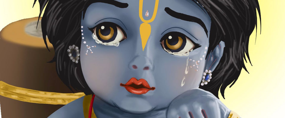 Baby Krishna by Raghuraman | Buy Posters, Frames, Canvas  & Digital Art Prints
