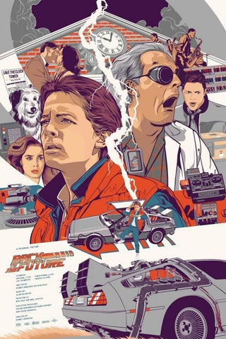 Back To The Future - Hollywood  Sci-Fi Movie Art Poster by Tim