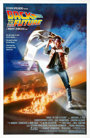 Back To The Future - Michael J Fox - Tallenge Sci Fi Classic Hollywood  Movie Poster