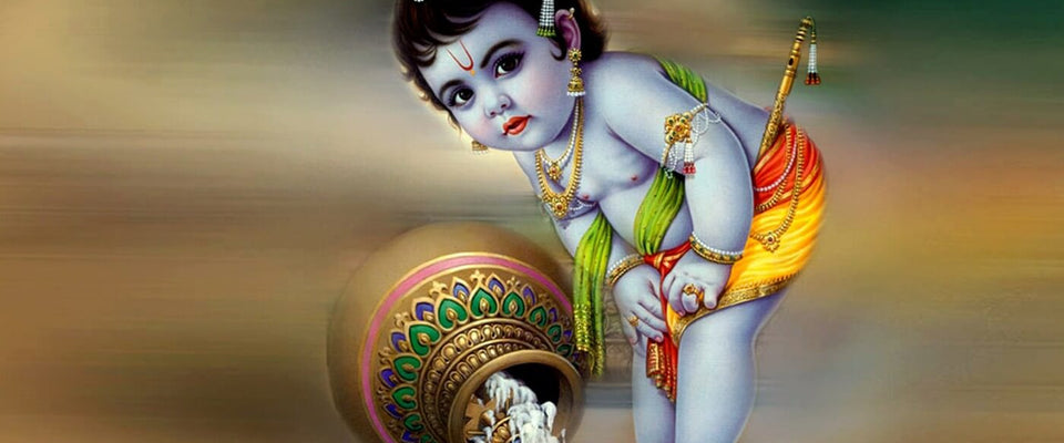 Bal Krishna Loves Butter by Jai | Buy Posters, Frames, Canvas  & Digital Art Prints