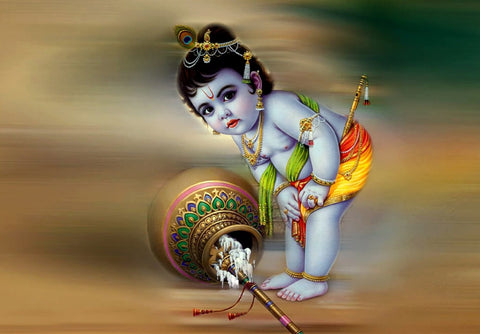 Bal Krishna Loves Butter