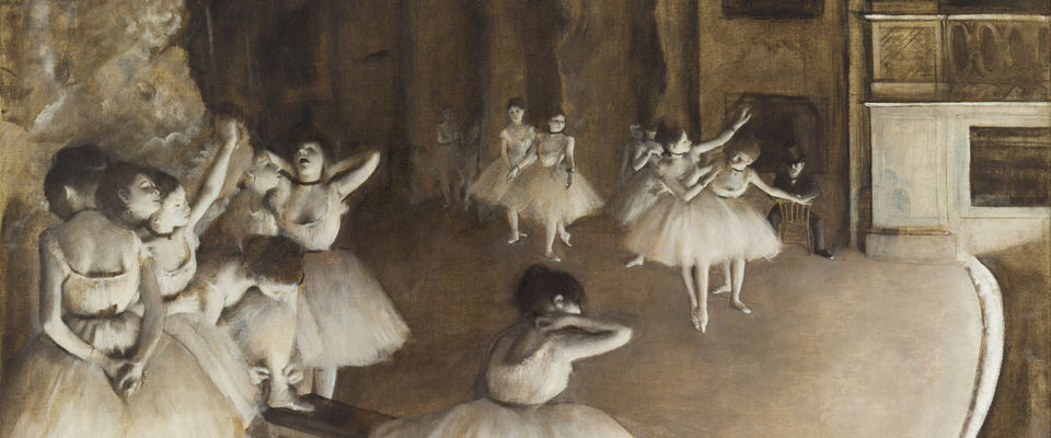 Ballet Rehearsal on Stage by Edgar Degas | Buy Posters, Frames, Canvas  & Digital Art Prints