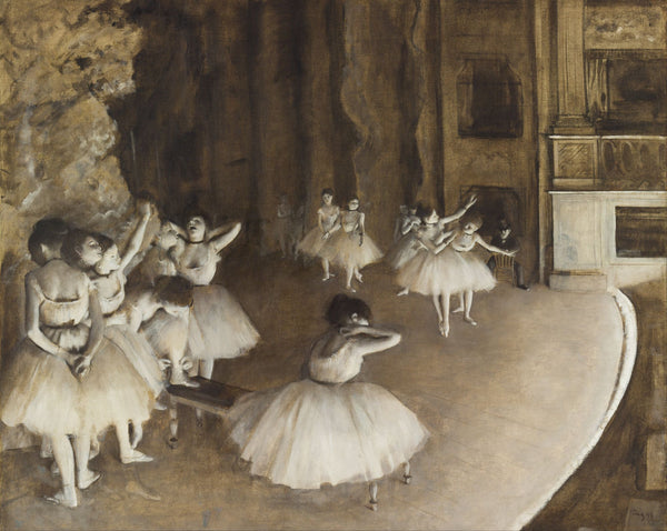 Ballet Rehearsal on Stage - Canvas Prints