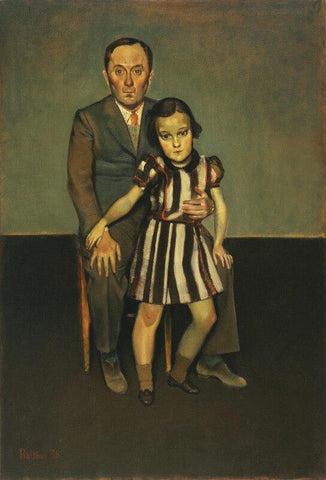Joan Miro And His Daughters