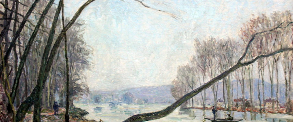 Bank of the Seine in Autumn by Alfred Sisley | Buy Posters, Frames, Canvas  & Digital Art Prints