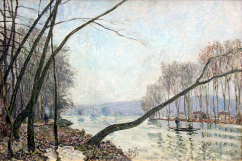 Bank of the Seine in Autumn by Alfred Sisley