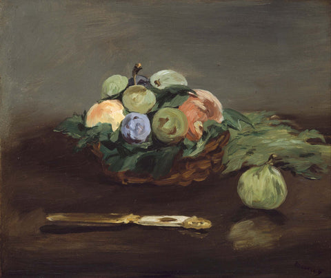 Basket Of Fruit by Édouard Manet