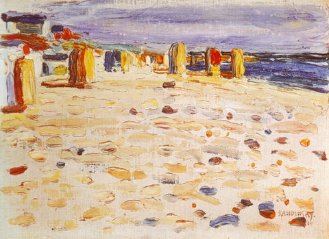 Beach Baskets In Holland by Wassily Kandinsky
