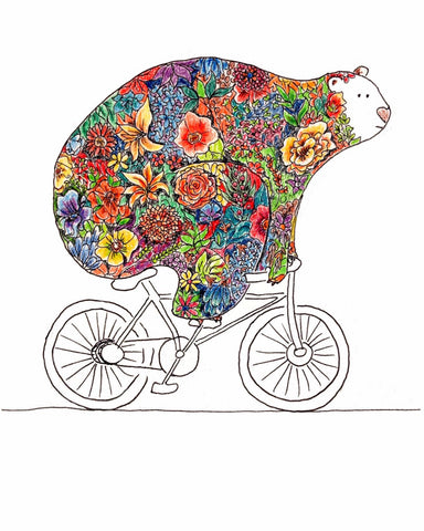 Bear Biking - Posters by James Britto