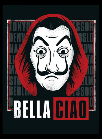 Bella Ciao - Money Heist - Netflix TV Show Poster Fan Art by Tallenge Store