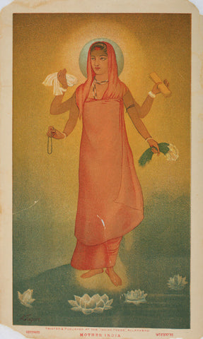 Bharat Mata Version II by Abanindranath Tagore