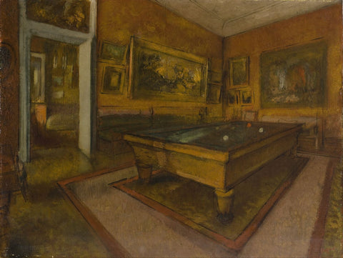 Billiard Room At Ménil-Hubert - Framed Prints
