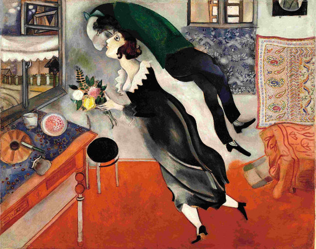 Artwork of Birthday by Marc Chagall