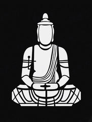 Black And White Buddha Art by Sina Irani | Tallenge Store | Buy Posters, Framed Prints & Canvas Prints