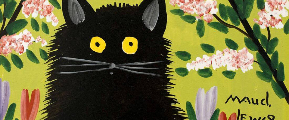 Black Cat - Maud Lewis by Maud Lewis | Buy Posters, Frames, Canvas  & Digital Art Prints