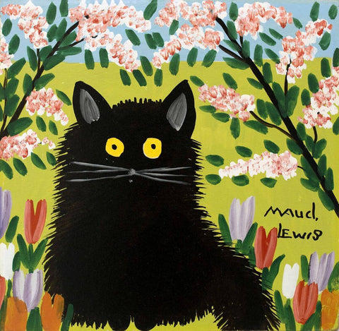 Black Cat - Maud Lewis - Posters by Maud Lewis