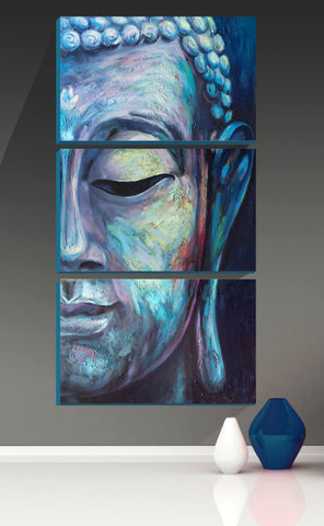 Divine Blue Buddha - Art Panels (16 x 30 inches) Final Size by Sina Irani