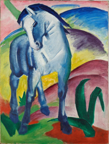 Blue Horse - Posters by Franz Marc