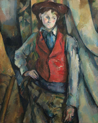 Boy in a Red Waistcoat - Canvas Prints