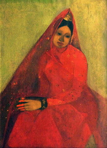 Bride - Amrita Sher-Gil - Famous Indian Art Painting by Amrita Sher-Gil