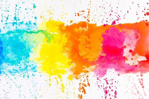 Bright Color Splashes - Posters by Tallenge Store