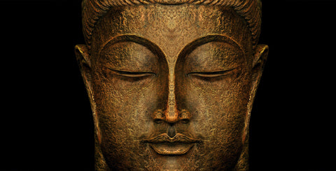 Divine Buddha - Rust Green and Gold