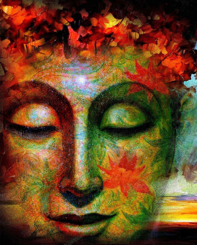 Buddha - Colorful Painting - Posters