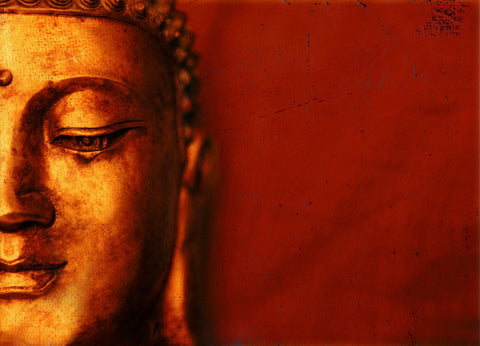 Buddha - The Enlightened One - Red - Large Art Prints