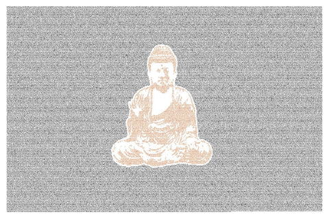 Buddha Art - Text Of Siddhartha by Herman Hesse In the Background