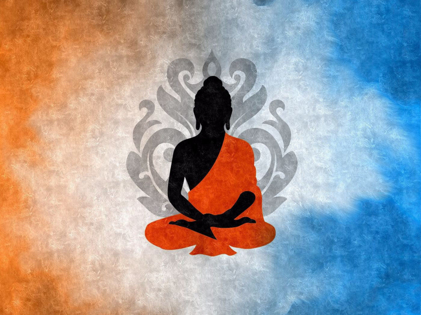 Buddha Silhouette With Lotus Flower Background Art Prints By James