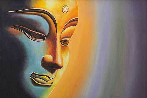 Buddha Gaze Art Painting