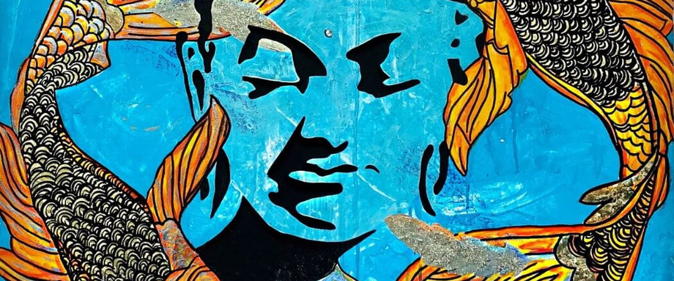 Buddha Blue Shade Canvas Print Crafted In London Quality Assured