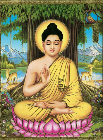 Buddha under the bodhi tree - Posters