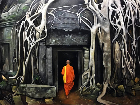 Buddhist Monk - Tallenge Buddha Painting Collection
