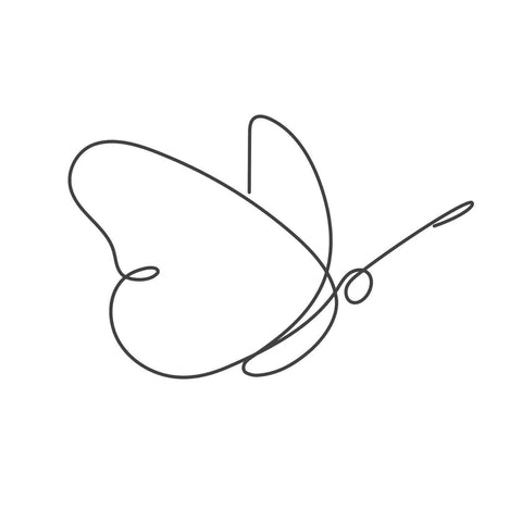 Butterfly - Minimalist Line Art Painting