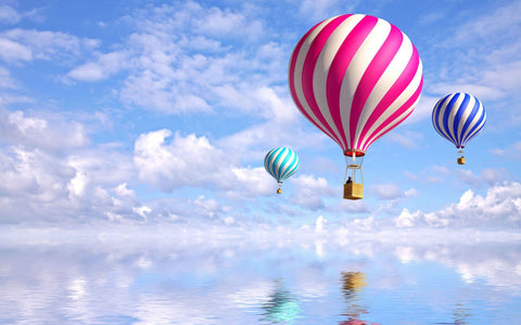 Candy Colored Hot Air Balloons In The Sky