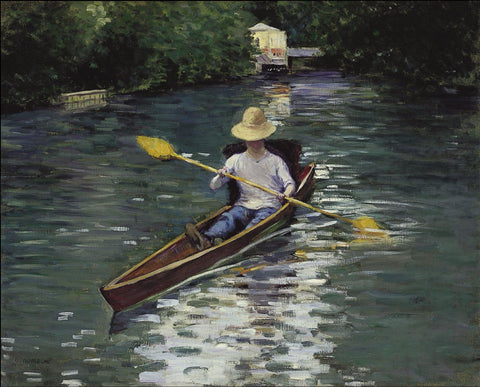 Canoe on the Yerres River